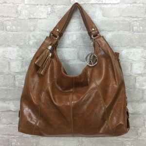 Fortuna Valentino Brown Glazed Leather Purse